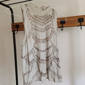 Free People Beaded Top